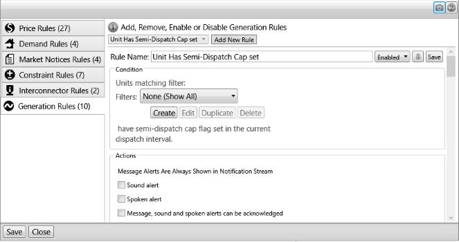 Image of the Notification Editor - Semi-dispatch cap rule